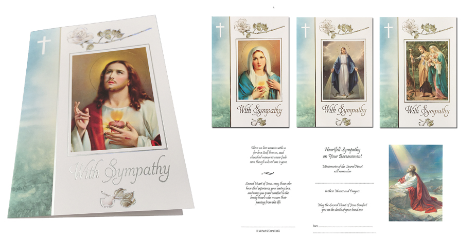 Sympathy Mass cards, Missionaries of the Sacred Heart
