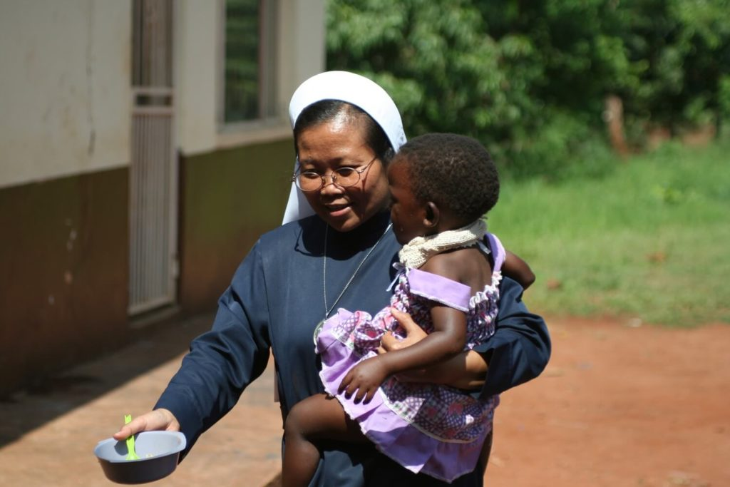 The Daughters of Our Lady of the Sacred Heart and integral part of the family of the Missionaries of the Sacred Heart, working tirelessly to end suffering, South Africa