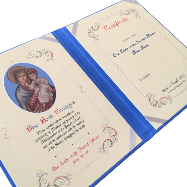 Our Lady of the Sacred Heart Blue Book