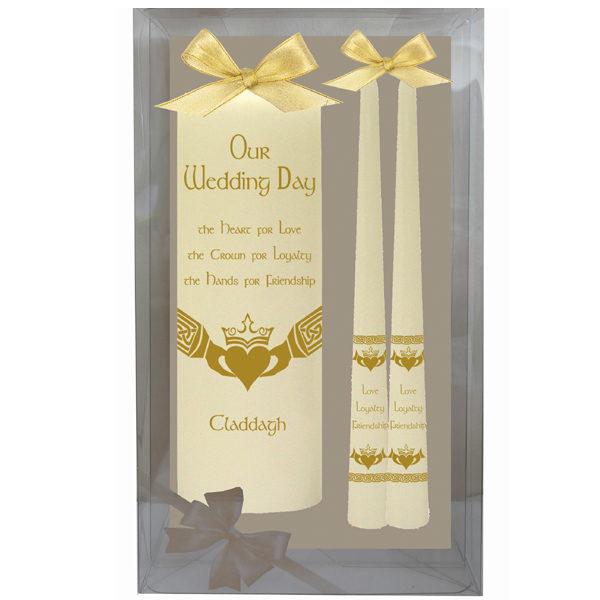 Ivory Claddagh Wedding Candle