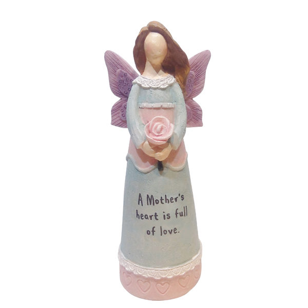 Resin Angel Statue - A Mother's Heart
