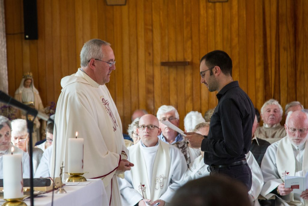 Missionaries of the Sacred Heart, MSC Missions, First Profession, First Profession ceremony, Myross Wood House, novitiate, missionary priesthood, religious life, vocation, vocation to priesthood, Fr Joseph McGee MSC