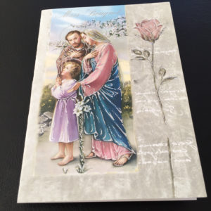 Single Mass Bouquet Card, Missionaries of the Sacred Heart, Catholic Mass Bouquet Card, Signed Mass Cards