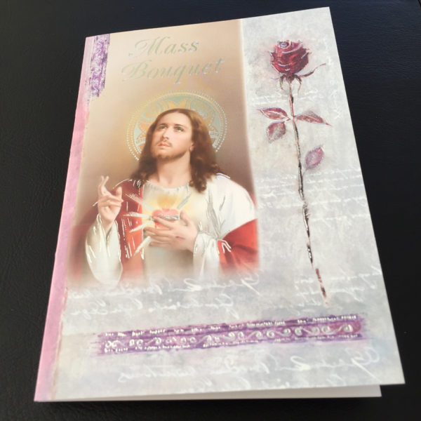 Mass Bouquet Card, Missionaries of the Sacred