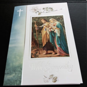 Religious Sympathy Mass Card, Catholic Mass Cards, Missionaries of the Sacred Heart