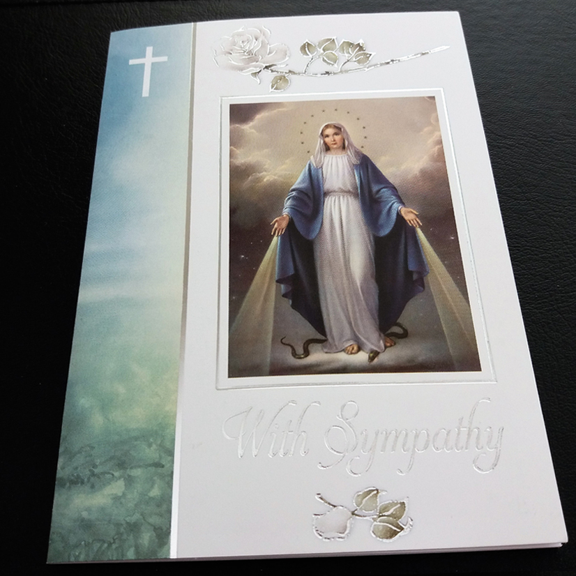 religious sympathy mass card missionaries of the sacred heart