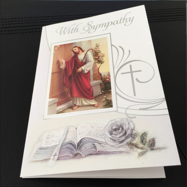 Traditional Sympathy Mass Card, Catholic Mass Cards, Missionaries of the Sacred Heart, Individual Sympathy Mass Cards