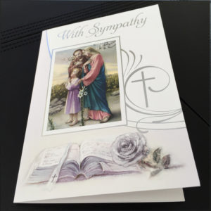 Traditional Sympathy Mass Card, Missionaries of the Sacred Heart, Catholic Mass Card