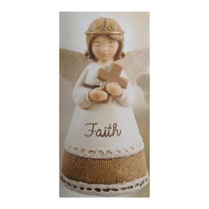 Hand Painted Resin Angel - Faith