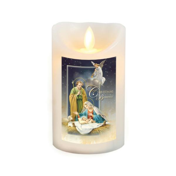 Nativity LED Candle