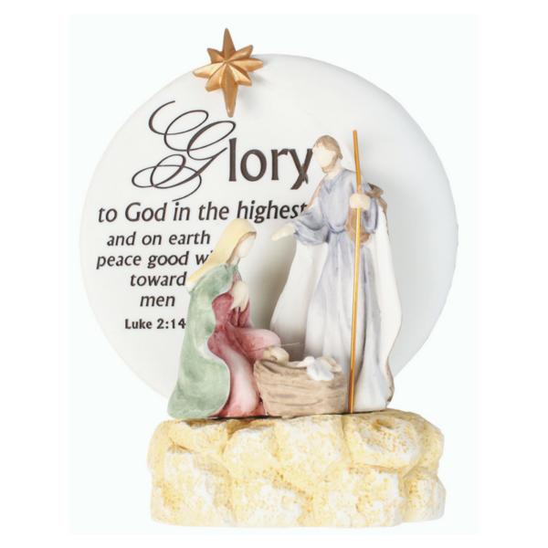 """5.25"""" Resin Nativity Ornament  – Holy Family"""