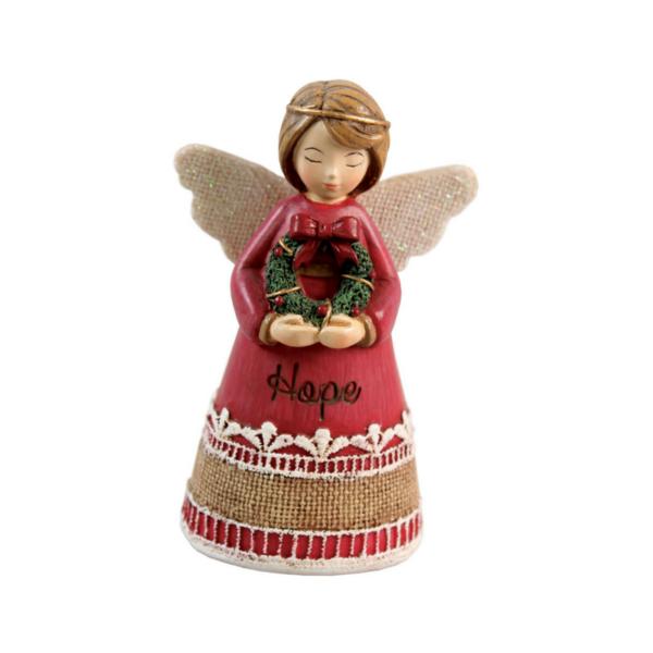 "Hand Painted Resin Angel – Hope – 4.25"""