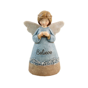 Hand Painted Resin Angel – Believe – 4.25""