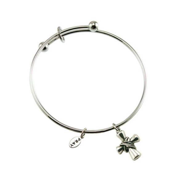 Silver Plated Cross Bracelet