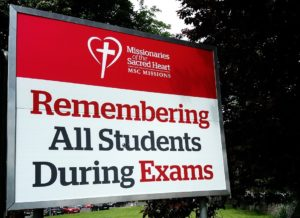 MSC Missions, Missionaries of the Sacred Heart, exam cards, exam Triduum of Masses, light a candle, submit a prayer