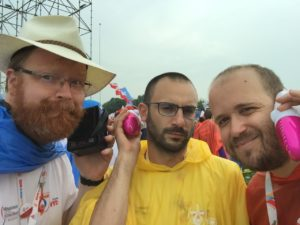 Br Giacomo with Fr. Alan and Br Jaime at World Youth Day in Poland vocation
