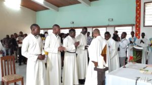 Missionaries of the Sacred Heart, MSC Missions, First Profession, First Profession ceremony, novitiate, missionary priesthood, religious life, vocation, vocation to priesthood, Missionaries of the Sacred Heart in the Democratic Republic of Congo, MSC Missions in in the Democratic Republic of Congo