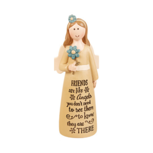 "4"" resin angel, friends are like angels"
