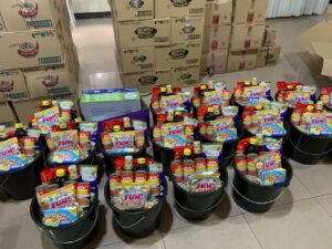 MSC COVID-19 outreach programmes providing essential care packages in the Philippines.