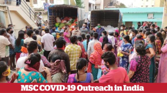 MSC COVID-19 Outreach in India
