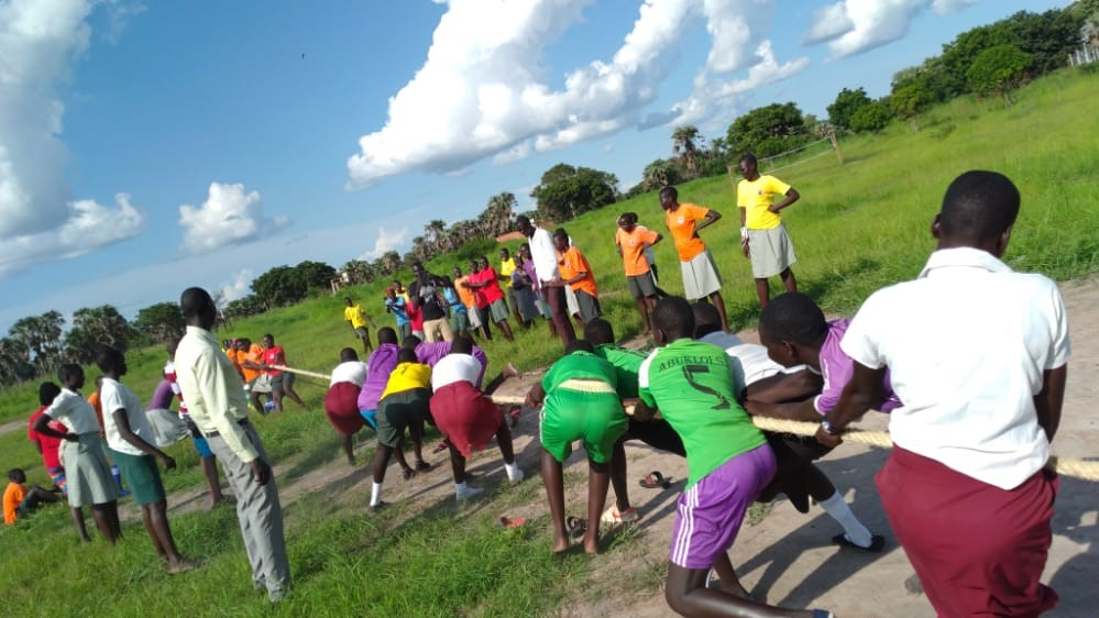 A tug of war at the Loreto Rumbek Sports Day.
