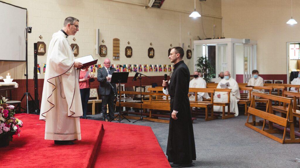 Irish Provincial Leader Fr Carl Tranter MSC celebrated Br Giacomo's Perpetual Profession ceremony at the Sacred Heart Church, Killinarden.