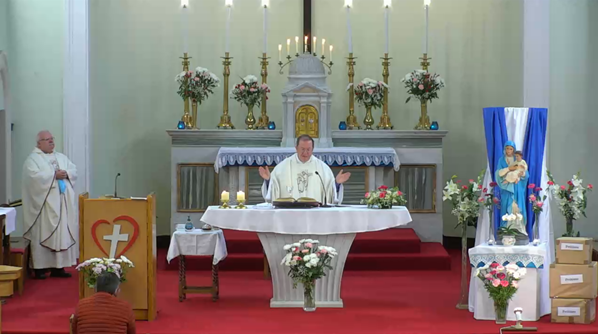 Fr Paul Clayton-Lea celebrates the 2021 MSC Novena to Our Lady of the Sacred Heart with Fr Michael O'Connell MSC.