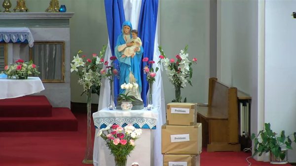 2021 MSC Novena to Our Lady of the Sacred Heart at the Sacred Heart Church on the Western Road, Cork.